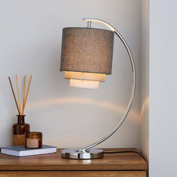 Dunelm Eclipse 3 Tier Grey Table Lamp Grey
