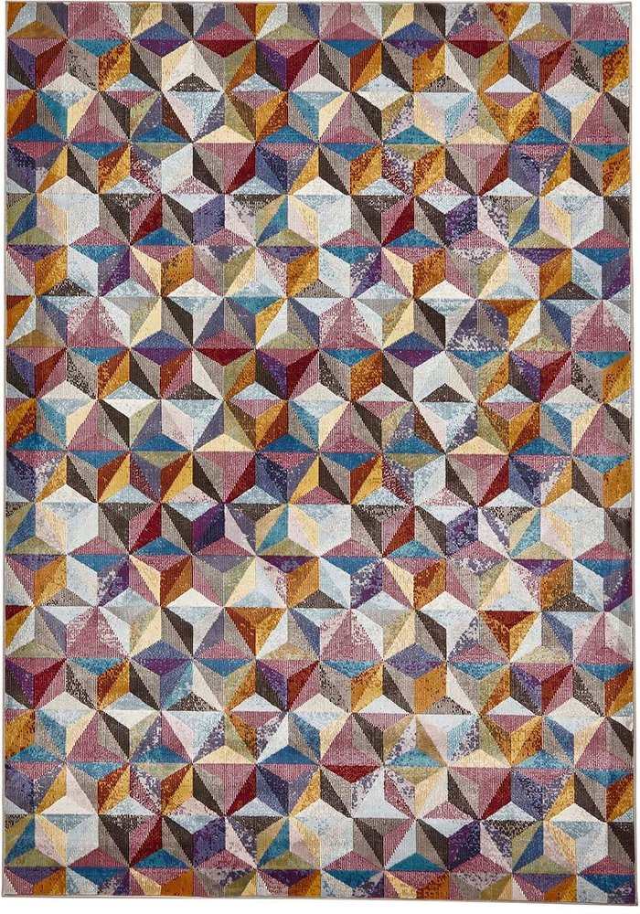 Think Rugs 16th Avenue 34A MultiColoured Rug Grey, Blue, Green and Brown