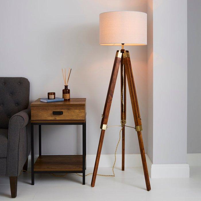Dunelm Trio Tripod Natural Floor Lamp Natural Brown