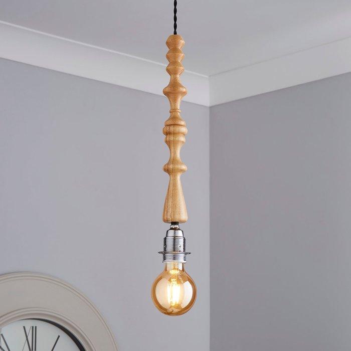 Dunelm Elements Flac 1 Light Wooden Flex Light Fitting Natural