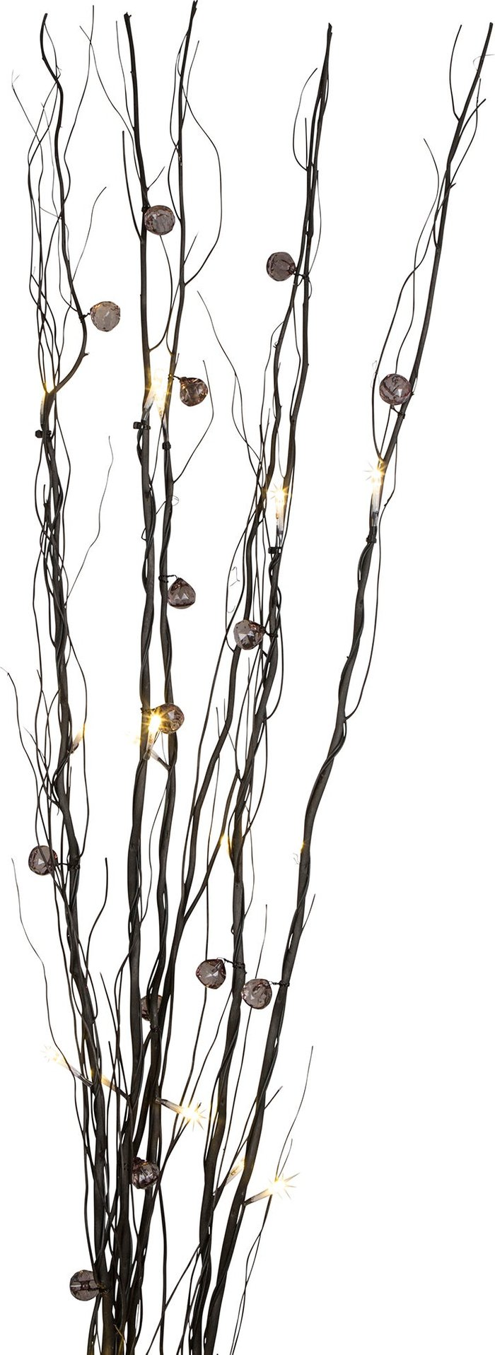 Dunelm Smoke Beads Black Twig Lights Black