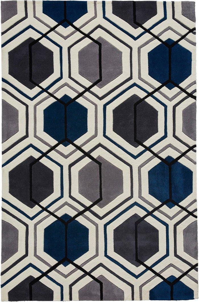 Dunelm Hong Kong 7526 Rug Blue/Grey