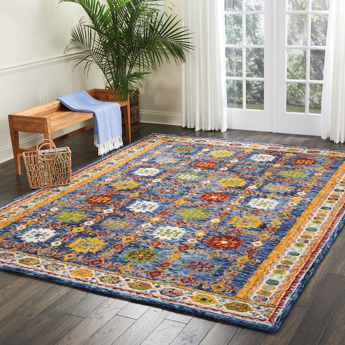 Nourison Vibrant 2 Teal Rug Blue/Multi-Coloured