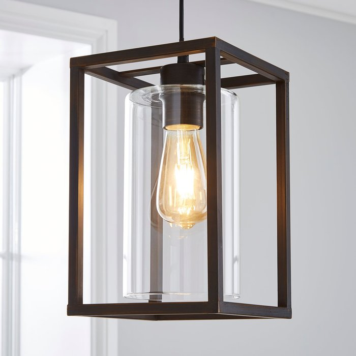 Dunelm London Industrial 1 Light Pendant Bronze Ceiling Fitting Brown
