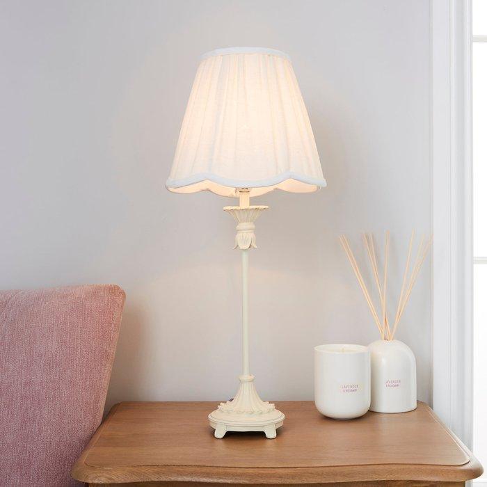 Dunelm Mackay White Stick Table Lamp White