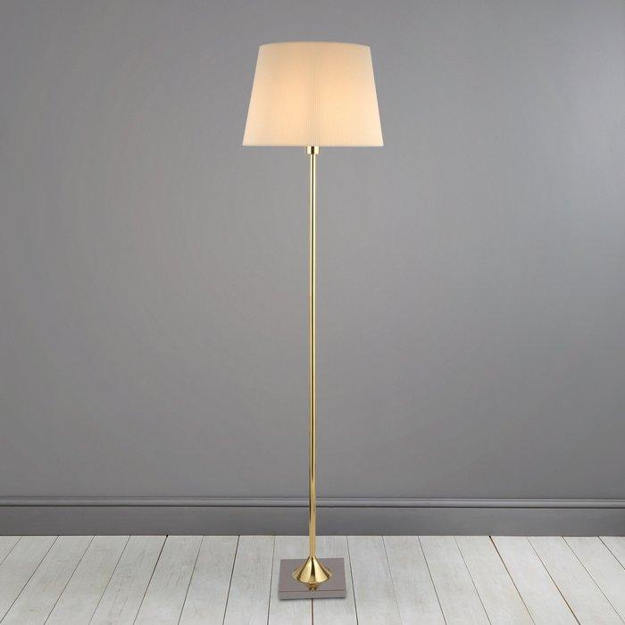 Dunelm Washington Brushed Gold Floor Lamp Gold