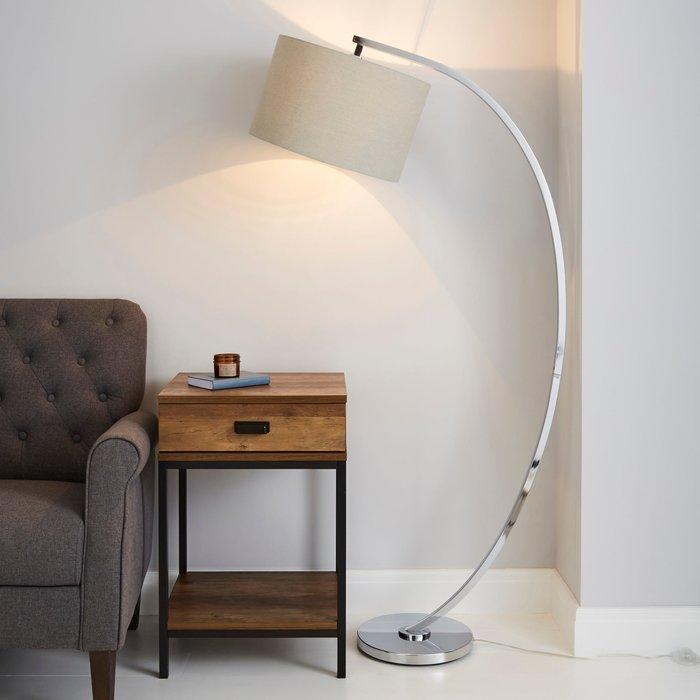 Dunelm Meson Chrome Floor Lamp Grey