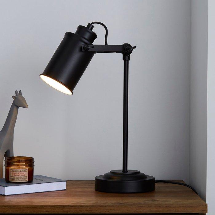 Dunelm Healy Black Industrial Table Lamp Black
