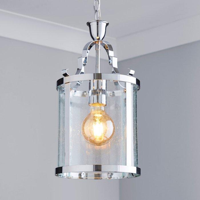 Dunelm Joplin Georgian 1 Light Lantern Glass Ceiling Fitting Clear