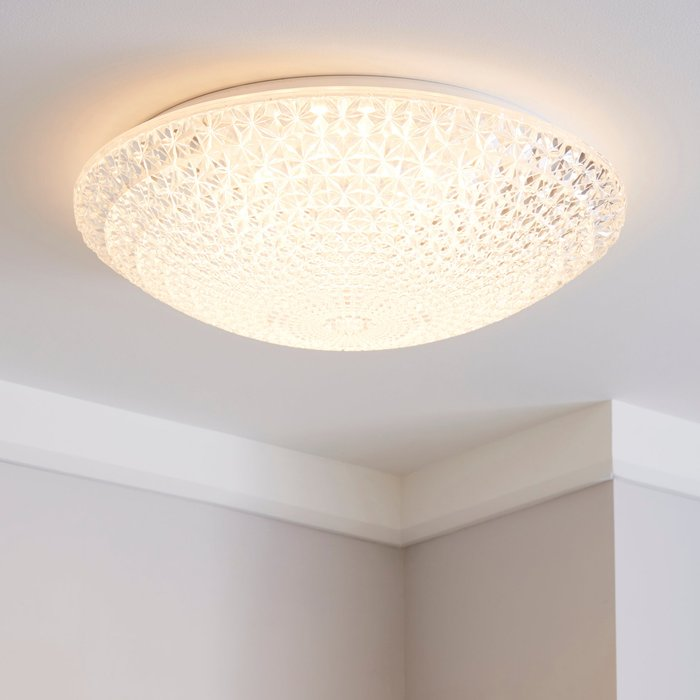 Dunelm Termoli 40cm LED Flush Ceiling Fitting Clear