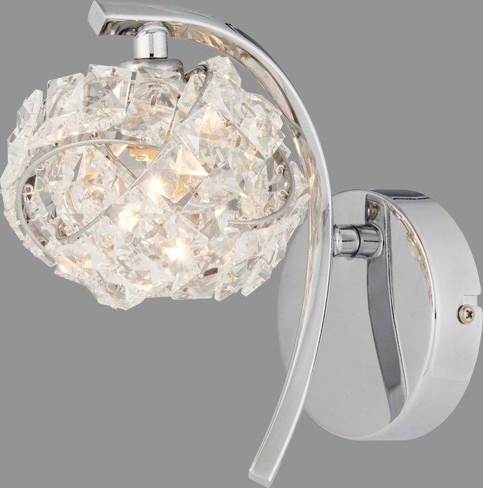 Dunelm Cecilie Glass Wall Light Chrome
