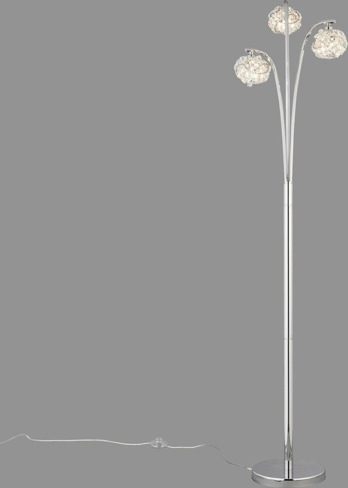 Dunelm Cecilie 3 Arm Chrome Floor Lamp Chrome