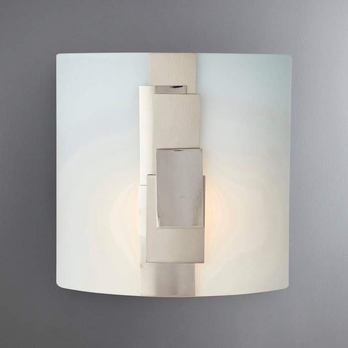 Dunelm Tier Glass Nickle Plated Wall Light Natural