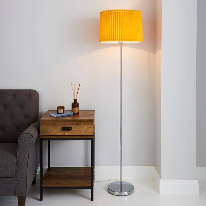 Dunelm Fuller Ochre Floor Lamp Yellow, Light Grey