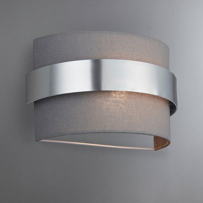 Dunelm Joey Shaded Grey Wall Light Grey