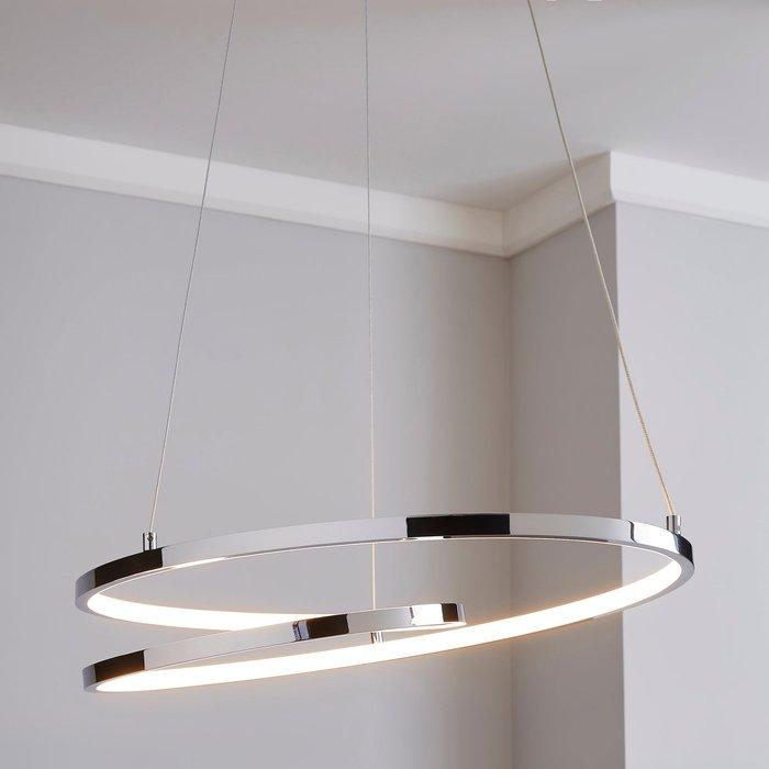 Dunelm Menton Integrated LED Swirl Chrome Ceiling Fitting Chrome
