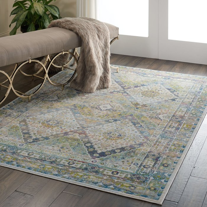 Nourison Ankara Global 7 Rug Blue