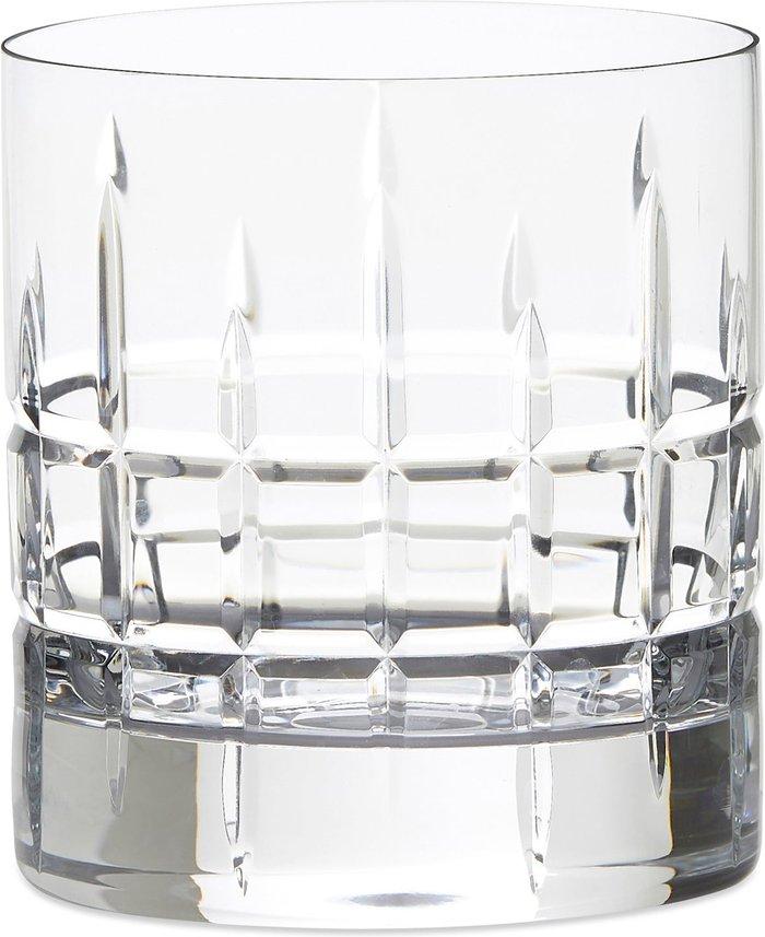Dunelm Set of 2 Crystal Cut Glass 300ml Tumbler Glasses Clear