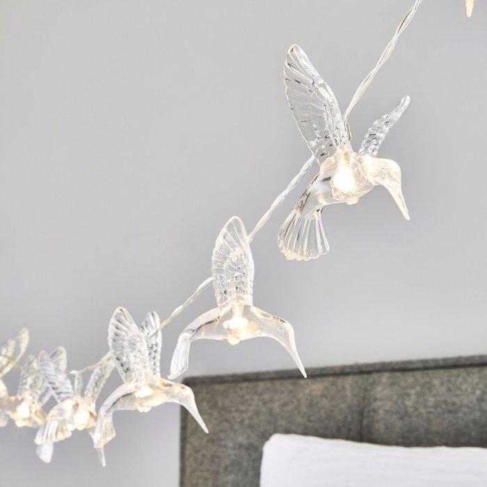 Dunelm Hummingbird 10 Light String Lights Clear