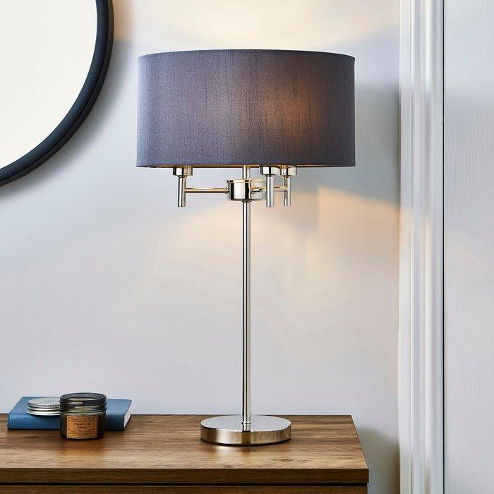 5A Fifth Avenue 5A Edmonton 3 Light Chrome Table Lamp Grey