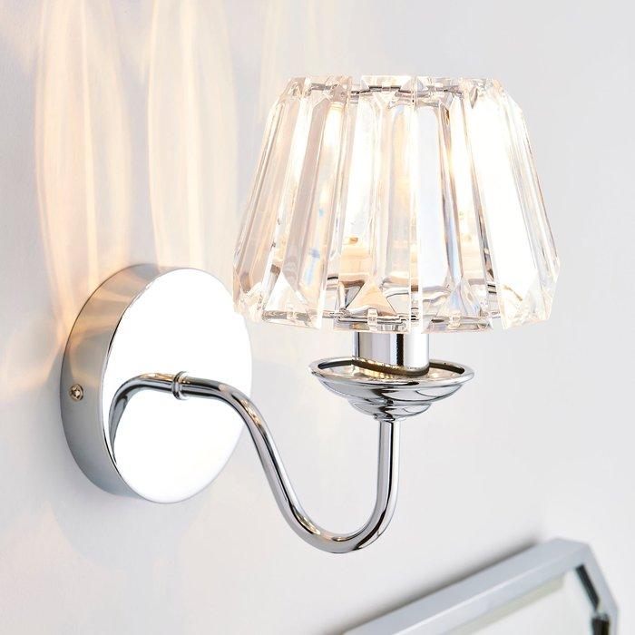 Dunelm Paloma Glass Wall Light Chrome