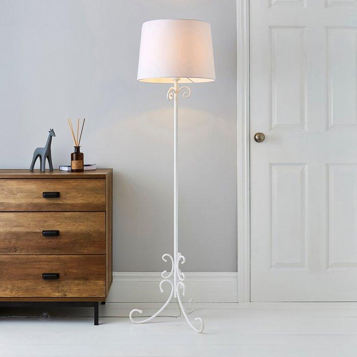 Dunelm Banks White Floor Lamp Off white