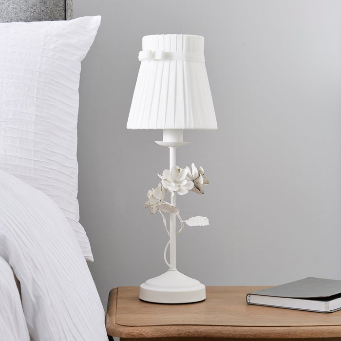 Dunelm Chateau White Table Lamp White