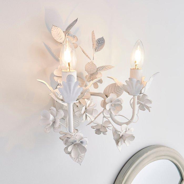 Dunelm Chateau 2 Light Candelabra White Wall Light White