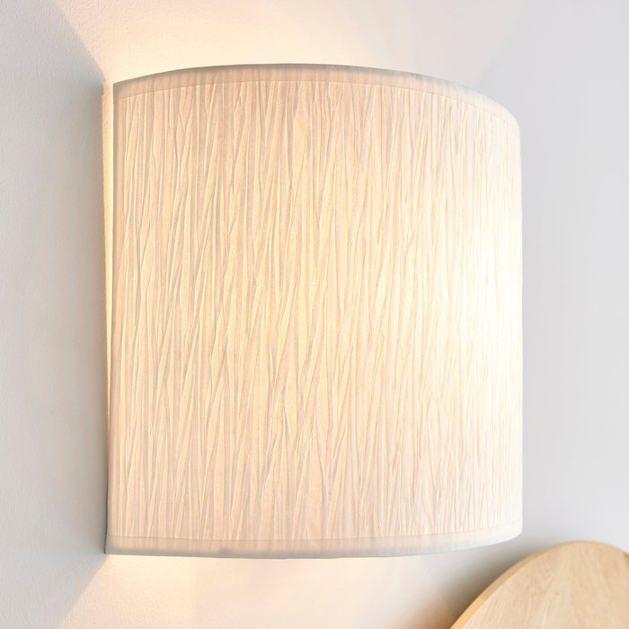 Dunelm Taora Paper Ivory Shade Wall Light Cream