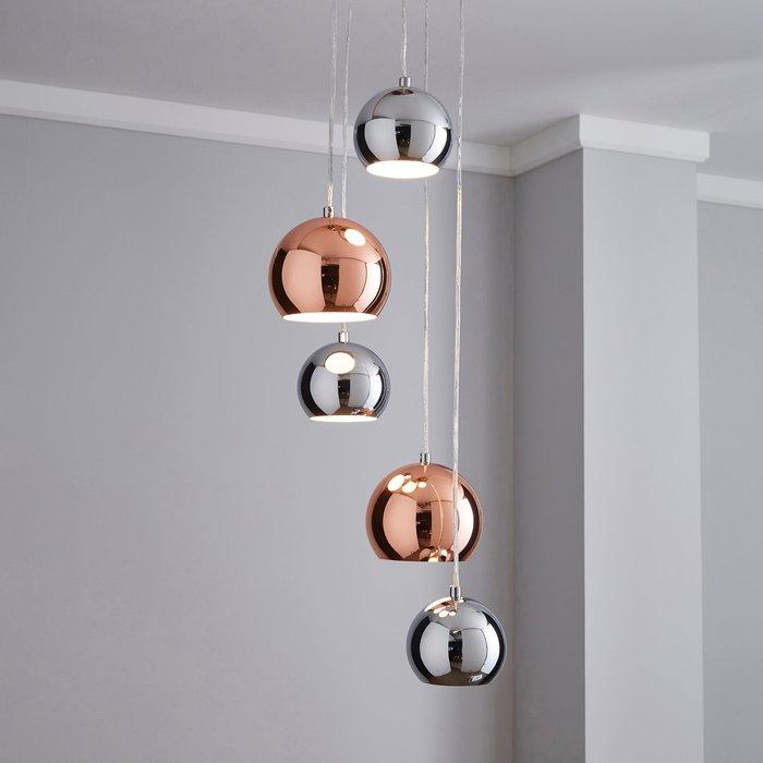 Dunelm Sora 5 Light Cluster Ceiling Fitting Chrome