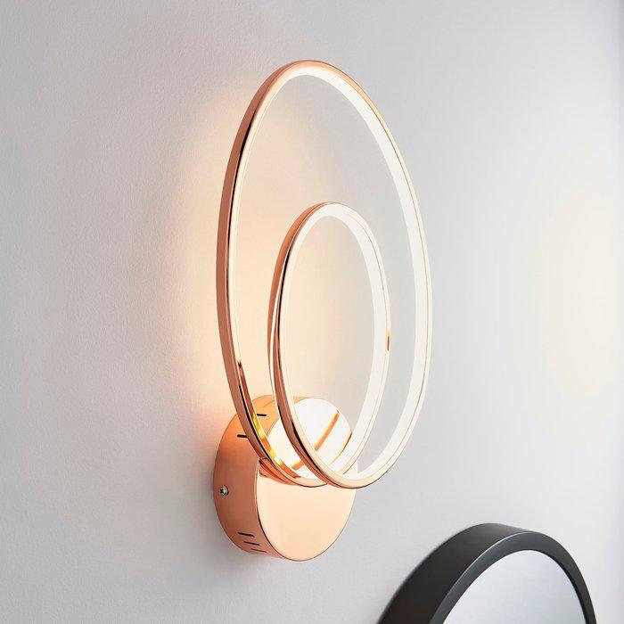 Dunelm Menton Integrated LED Swirl Copper Wall Light Copper