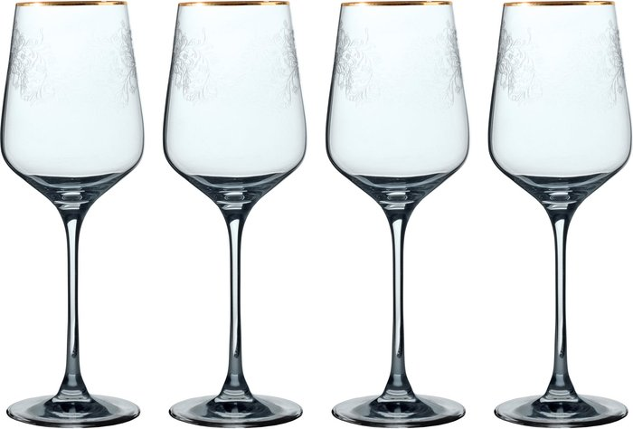 V&A V&A The Cole Collection Set of 4 Red Wine Glasses Clear