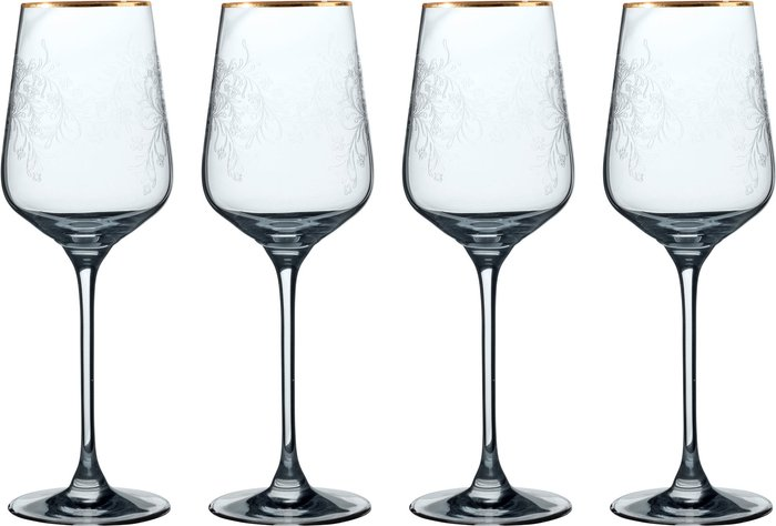 V&A V&A The Cole Collection Set of 4 White Wine Glasses Clear
