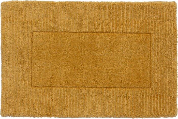 Dunelm Boston Wool Border Doormat Yellow