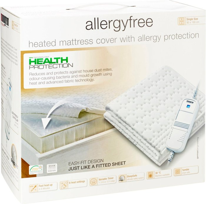 Beurer Monogram by Beurer Anti Allergy Electric Blanket White