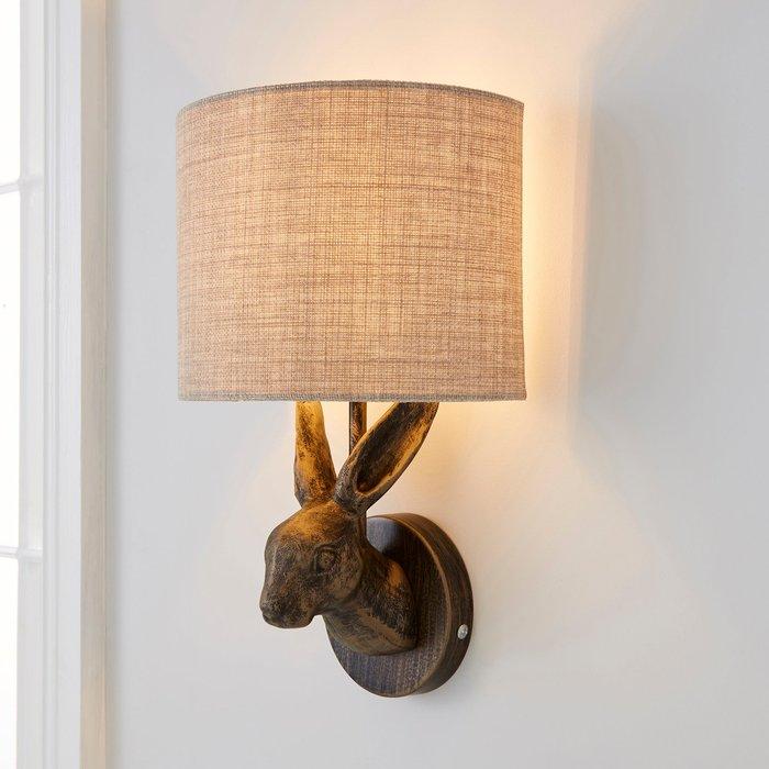 Dunelm Hare Bronze Wall Light Brass