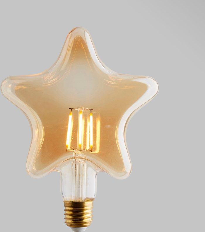 Dunelm Status 4 Watt LED ES 28cm Star Shape Bulb Gold
