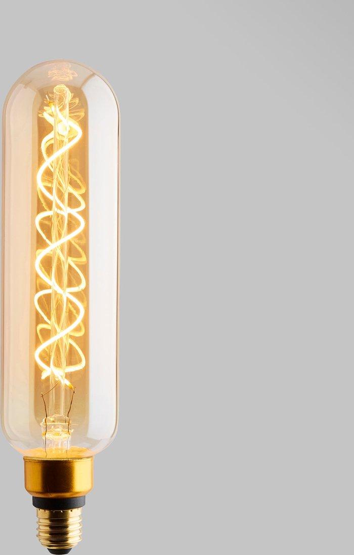 Dunelm Status 6.5 Watt T20 ES 28cm Dimmable Spiral Filament Bulb Gold