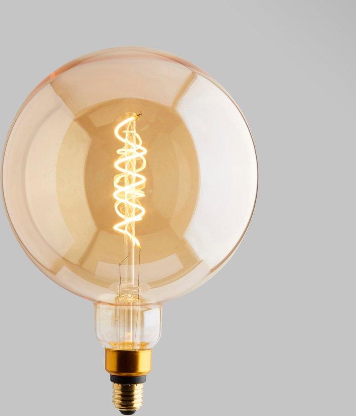 Dunelm Status 6.5 Watt G200 ES 28cm Dimmable Spiral Filament Bulb Gold