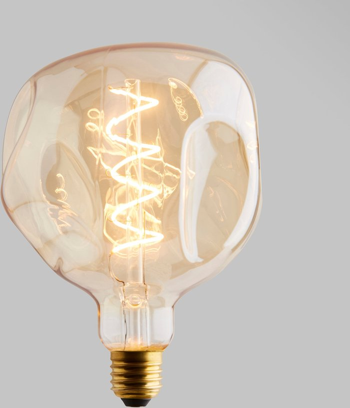 Dunelm Status 5 Watt ES 17cm Spiral Filament Bumpy Bulb Gold
