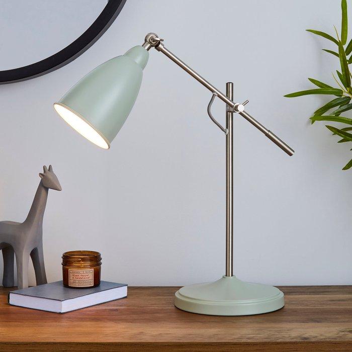 Dunelm Robson Seafoam Lever Arm Task Desk Lamp Seafoam (Blue)