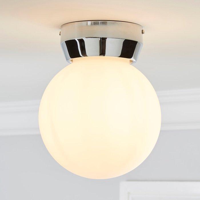 Dunelm Harlow 1 Light Frosted Glass Flush Ceiling Fitting White
