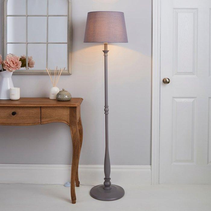 Dunelm Tofty Grey Floor Lamp Grey