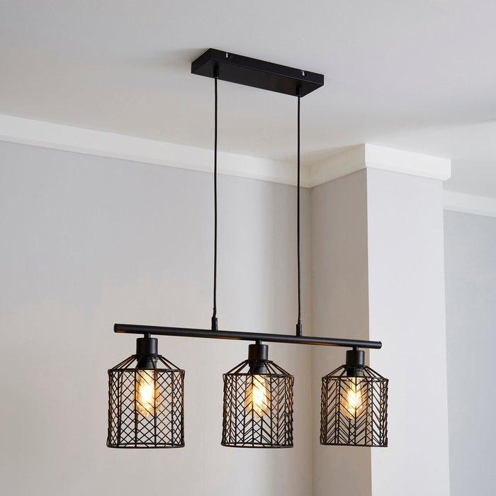 Dunelm Siena 3 Light Diner Ceiling Fitting Black