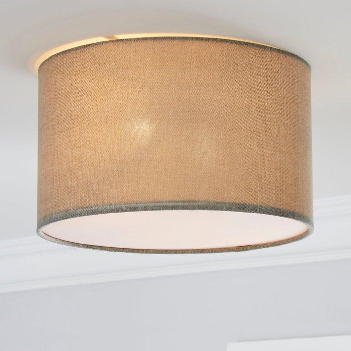 Dunelm Sara 30cm Grey Shade Flush Ceiling Fitting Grey