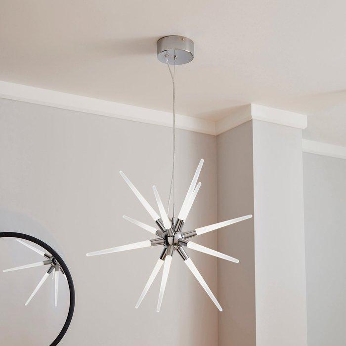 Dunelm Liard 9 Light Pendant Integrated LED Star Ceiling Fitting Chrome