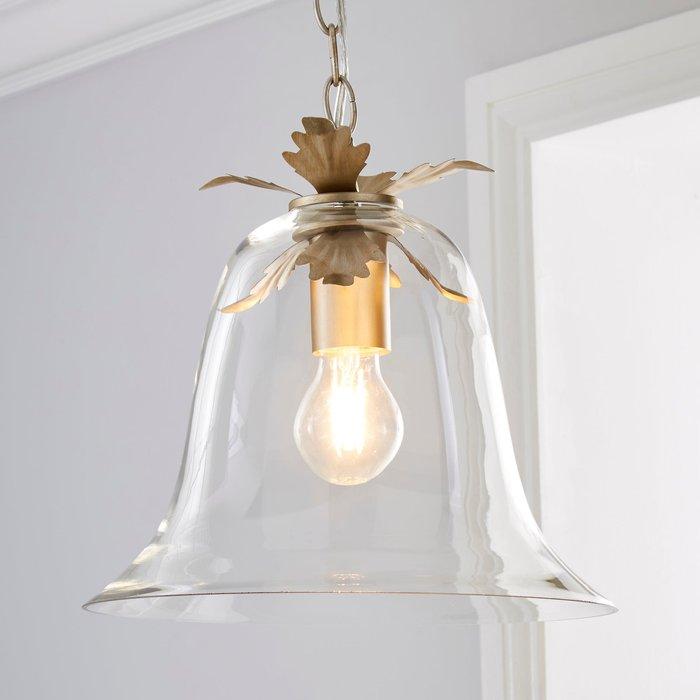 Dunelm Mase Bell 1 Light Pendant Glass Ceiling Fitting Clear