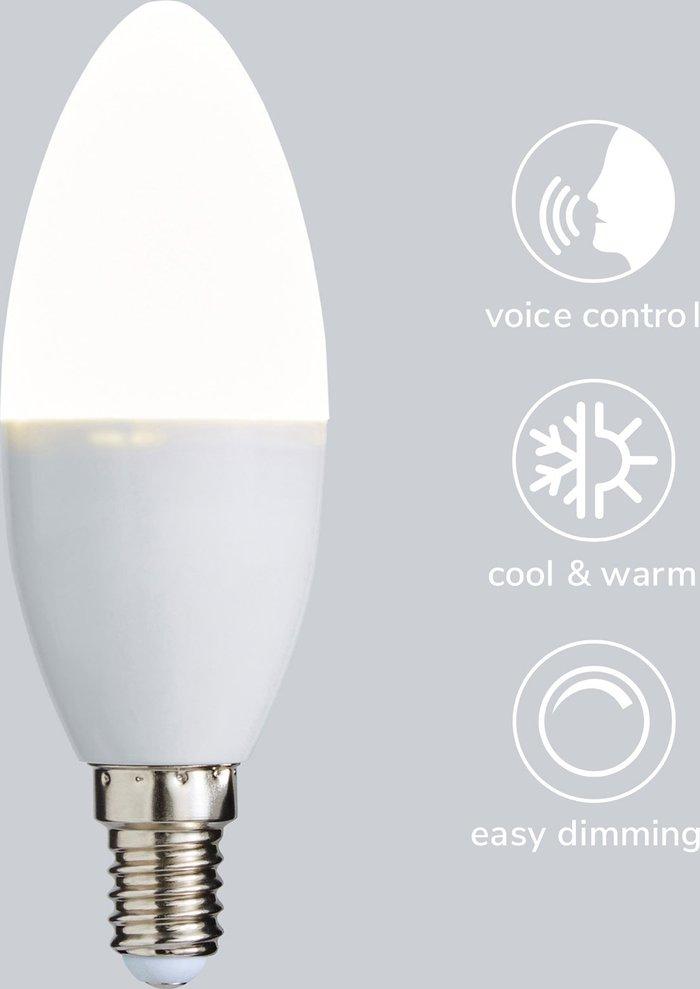 Dunelm Status Smart Alexa 5.5 Watt CT SES Candle Bulb White