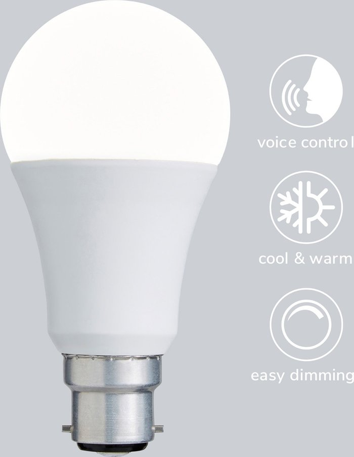 Dunelm Status Smart Alexa 9 Watt GLS LED CT BC Bulb White