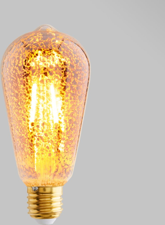 Dunelm Dunelm 4 Watt ST64 ES LED Crackle Bulb White